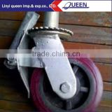 Light duty zinc plated threaded stem hard rubber caster wheel