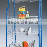 534-35B metal wire kitchen trolley storage cart for vegetable fruit food