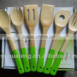 bamboo spoon with colorful handle