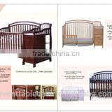 Qing dao solid wood baby crib baby cot bed