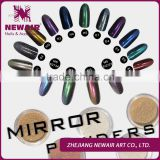 Rainbow chrome mirror effect pigment powder beauty nail mirror powder fashion chrome mirror powder