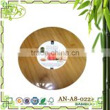 AONONG MOSO Bamboo 2-layer Rotate Cheese Round Stand Butcher Block Circle Sturdy Chopping Block