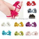 New Arrival !! Barefoot Socks Sandals Shoes Flowers Feet Toes Baby Blooms