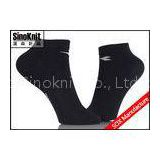Soft Breathable Anti-bacterial Mens Black Ankle Socks / No Show Boat Socks Nylon or Cotton