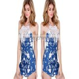 Summer new design mature women fashion open back long maxi umbrella tie dye dress