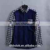 Custom made Latest designs for men casual flannel shirt brushed cotton lined winter shirt