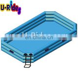 3 tubes Squre Portable inflatable swimming pool in 1.5 meter height