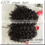 Luxurious no chemical high quality raw unprocessed mongolian curly hair weave