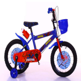 kids bike with basket steel children spider man bicycle China factory wholesale