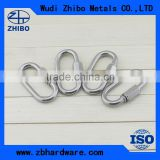 High polished stainless steel material oval shaped quick link carabiner spring carabiners
