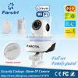 PIR Detector+Smoke detector+Door sensor+Wifi IP Camera PTZ P2P Wireless 1.0MP IRCUT CMOS Security Surveillance Camera
