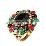 Vintage colorful resin gemstone ring,big stone ring designs