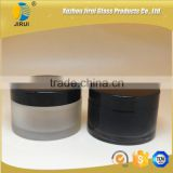 200ml black & frosted glass cosmetic jar with plastic cap/ face cream jar