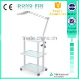 beauty salon furniture glass shelf trolley manufactuer