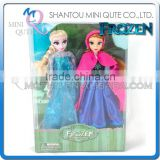 Mini Qute wholesale Kawaii 2 in 1 movable joints Plastic cartoon Frozen doll frozen princess anna & elsa olaf girl children toys