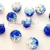 10mm shamballa blue crystal gradual change color loose beadings cz rhinestone disco balls