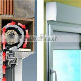 Guangzhou aluminum rolling up window shutters, simple iron window grills, steel shutter window