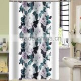 Lovely design for children waterproof polyester flower printed shower curtain