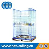 Liaoning folding stackable wire mesh metal pallet cage