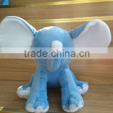 Stuffed blue elephant plush big ear elephant toy/free sample elephant toys/stuffed blue and pink elephant for sale