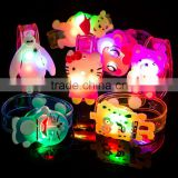 Cute!!! Soft Jelly Light Up LED Bracelets Bangle Wristband Party Favors For Children Kids Children'Day Christmas Wedding
