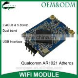 300Mpbs 2t2r antenna wifi pocket modem 2.4Ghz & 5.8Ghz dual band Qualcomm AR1021 atheros usb 2.0 wireless module