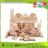 High Quality 116 Pcs Wooden Natural Puzzle Block Set OEM/ODM Educational Building Block Play Set