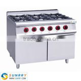 6 burner gas range with cabinet and grill top and gas range burner covers (SUNRRY SY-GB900A-1)