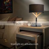 wooden+steel E27*1 table lamp, fabric /cloth desk light contemporary table light                                                                         Quality Choice