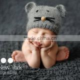 New Design cat Ear Winter Windproof Baby Hats For Kids Boys Girls Shapka Caps For Child FH-169