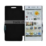 For Huawei P6 Flip PU leather cover case with Magnet button