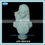 young white marble naked lady bust statues