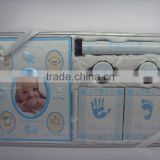 New Born Baby Gift Set With Handprint &Footprint Photo Frame                                                                         Quality Choice