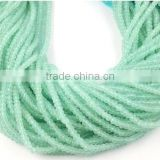 "5 Strands Natural Chalcedony Faceted 2.5-3mm Rondelle Drilled Beads 13"" Long Strand,Jewelry Making Rare Chalcedony Beads"