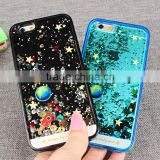 3D Floating Glitter Liquid Phone Case Star Quicksand Hard PC Back Shell for iphone for Smausng