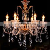 Modern Wedding Centerpieces Decoration Crystal Chandelier Art Glass Chandeliers Hanging Pendant Lamp Light Lighting CZ3006/6