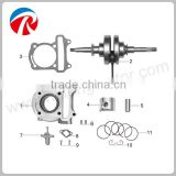 50cc motorcycle engine pulley crankshaft