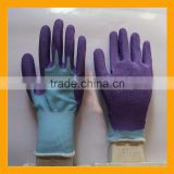 13G Blue Polyester Liner Coated Foam Latex CE Protection Gloves Purple Foam Latex Gloves Manufacturers