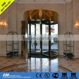 Russian Radisson Hotel, automatic revolving door, safety glass, stainless steel, CE GOST ISO9001 certificate