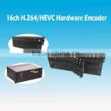 H.265 hevc 16 channels IPTV Streaming Encoder supporting HTTP RTMP RTSP UDP Multicast encoder