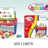Pre-school products plastic toy magnetic white board with magnetic letters and numbers