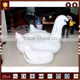 China suppliers water play equipment customized swan inflatable float toy for kids and adults