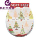 GLD Hot Sales PVC Adult soft image toilet seats / WC Seat Happy Santa Claus Christmas Soft Toilet Seat lid For toilet