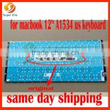 A1534 us keyboard for macbook 12'' retina clavier with backlight perfect testing