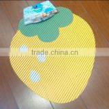 Hot sale Eco-friendly Strawberries shape bath mat with good quality
