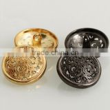 High quality metal buttons Gold, silver, hollow out buttons Men's jacket dress coat buttons
