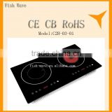 2 zones Induction Cooker vs ceramic infrared electric with booster and 9 level control mix cooker for kitchen appliance