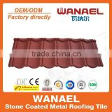 Classical Wanael stone coated metal roof sheet/color roof philippines/Korea technology, factory sell