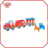Outdoor Wooden Train Track Playground Animal Toy