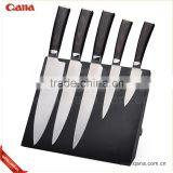 S/S430 + Color wood Handle high grade stainless steel kitchen knife set                                                                         Quality Choice